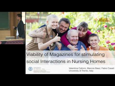 Viability of Magazines for Stimulating Social Interactions in Nursing Homes