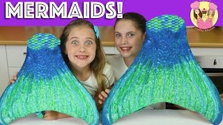 fin fun mermaid haul we turn into the little mermaid swim in our pool kid toy review