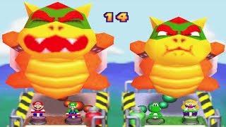 Mario Party 2 All 2-Vs-2 MiniGames - Mario Vs Luigi Vs Yoshi Vs Wario (Master Cpu)