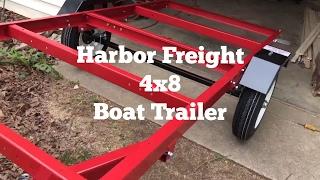 Harbor Freight 4 x 8 Trailer / Boat Trailer