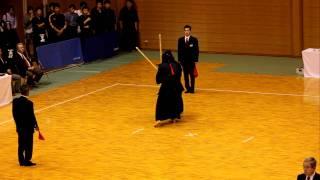 Kendo Doshisha Kenrenkai vs Kyodai (2) 同大剣練会対京大、上段、面一本