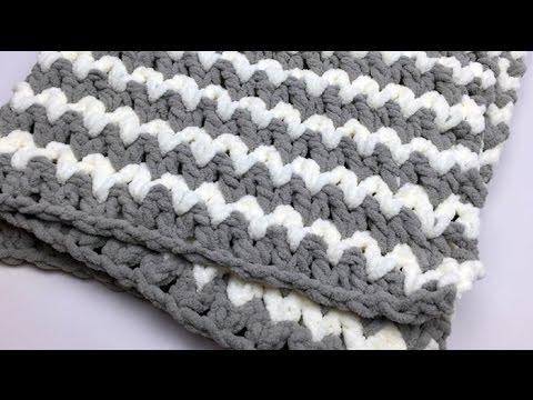 Crochet Trendy Baby Blanket Tutorial Youtube