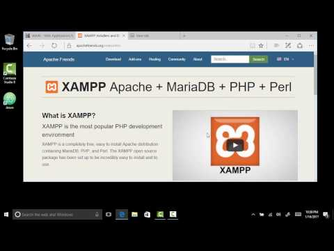 Installing XAMPP On Windows For PHP/MySql