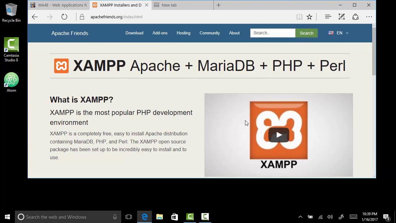 install xampp windows 7 64-bit apache mysql