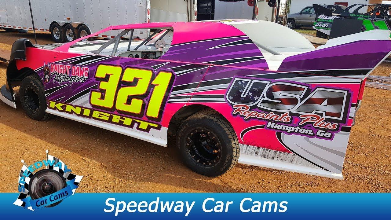 #321 Brannon Knight - Kajun Mini Stock - 8-26-17 Smoky Mountain Speedway -  In Car Camera