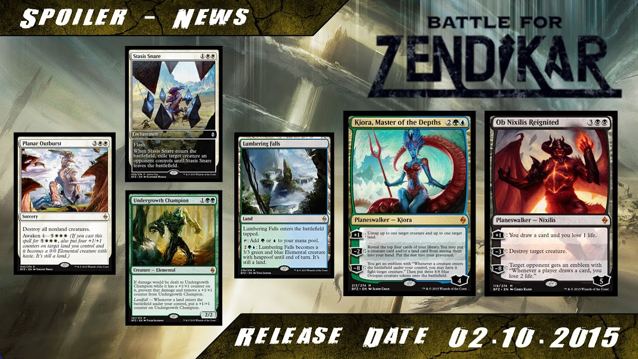Mtg - Battle for Zendikar Spoiler - Kiora,Ob Nixilis,Undergrowth und Game  Day Card [Info][Deutsch]