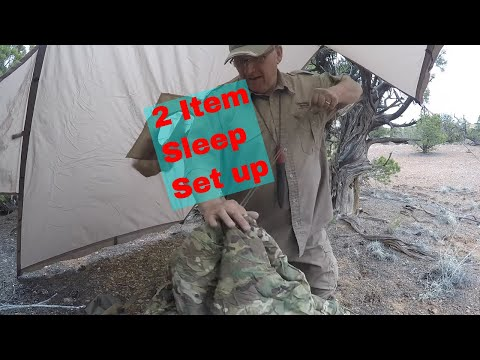 Use A Poncho And Liner For A Sleeping Shelter - Multiple Use Gear