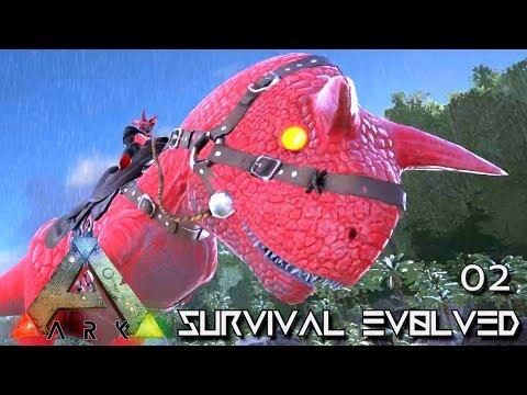 ARK: SURVIVAL EVOLVED - MY FIRST ALPHA TAME !!! E02 (MODDED ARK EXTINCTION CORE CENTER)
