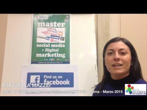 Raffaella al Master in Social Media e Digital Marketing di Roma
