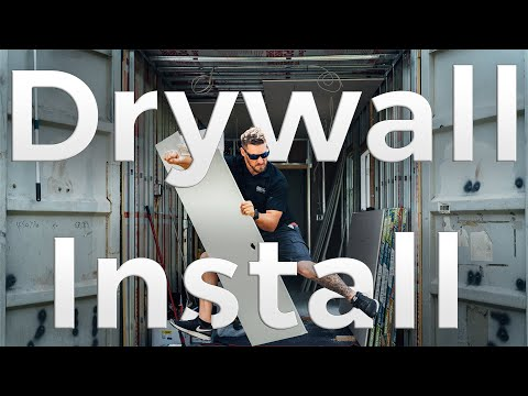 Installing Drywall in our Shipping Container Home | Ep. 8