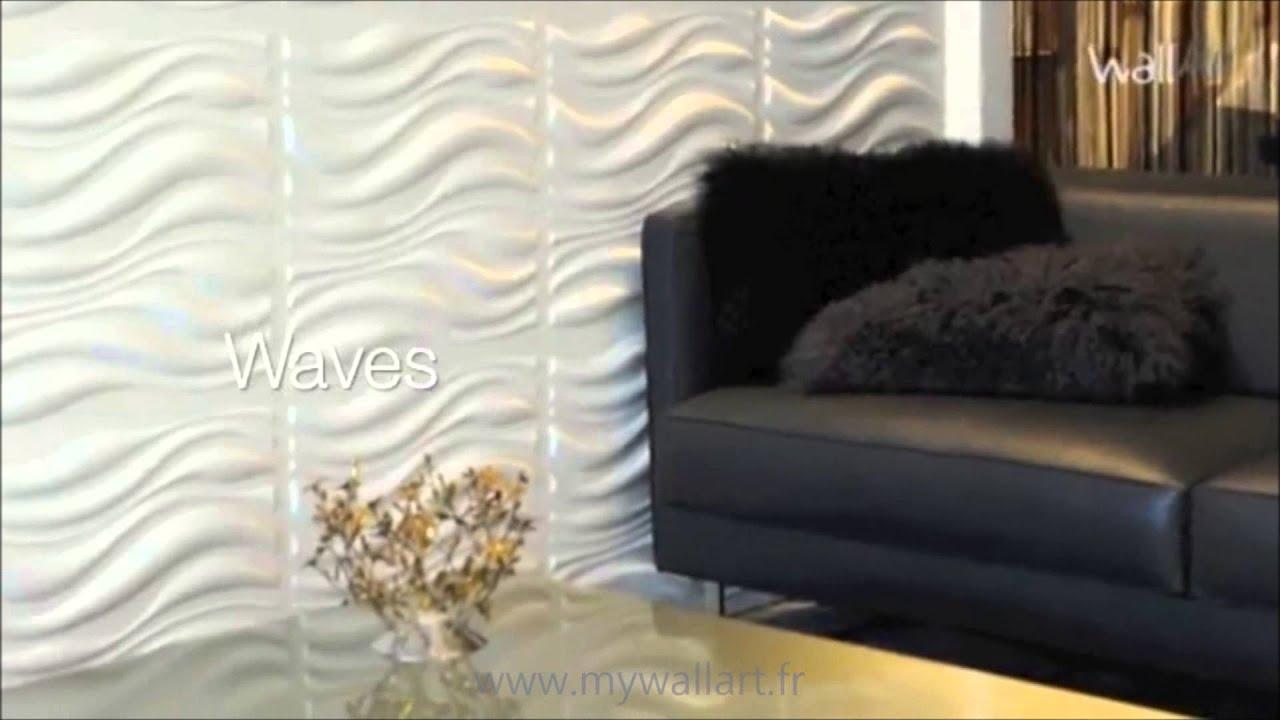 panneau mural 3d waves 2 youtube. Black Bedroom Furniture Sets. Home Design Ideas