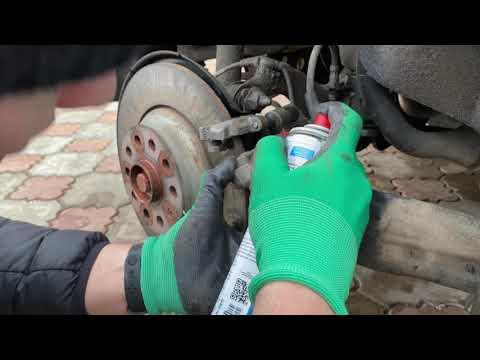 Замена задних тормозных колодок VW Tiguan 2017