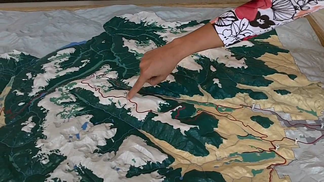 Rocky Mountain National Park Topographical Map  YouTube