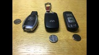 Hướng dẫn tự thay pin chìa khóa oto Mercedes, Hyundai, Mazda dễ dàng