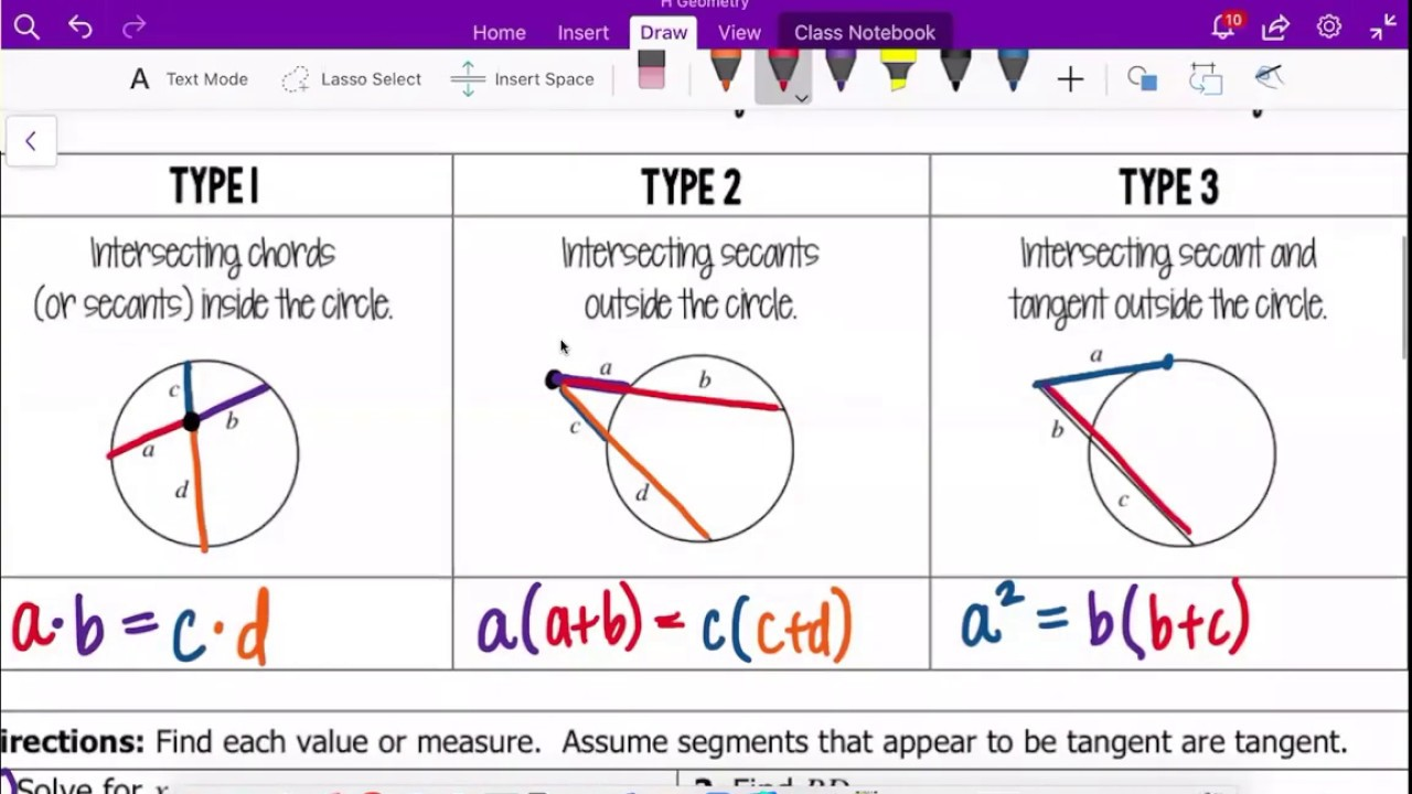 Segment Lengths in Circles   YouTube