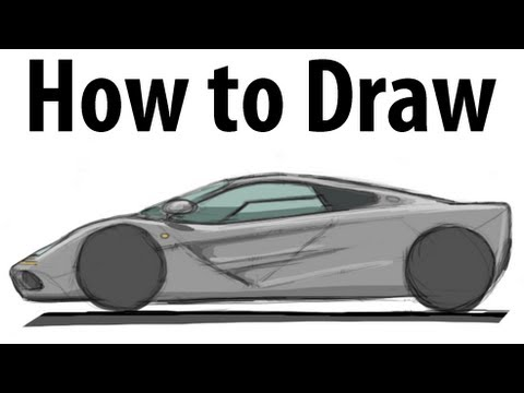 How to draw a McLaren F1 - Sketch it quick! - YouTube
