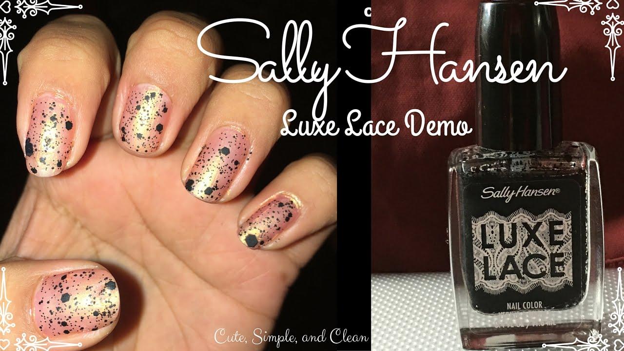 Sally Hansen Luxe Lace Demo - YouTube