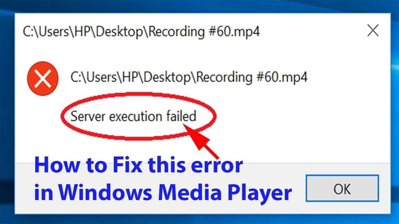 lỗi explorer.exe server execution failed
