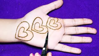 Stylish Heart Mehndi Designs [ Henna Designs ] - Easy Mehndi Designs For Hands - New Mehndi Designs