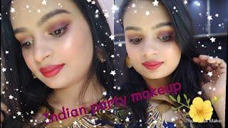 Indian party makeup | Indian wedding guest makeup look | Indian makeup tutorial |