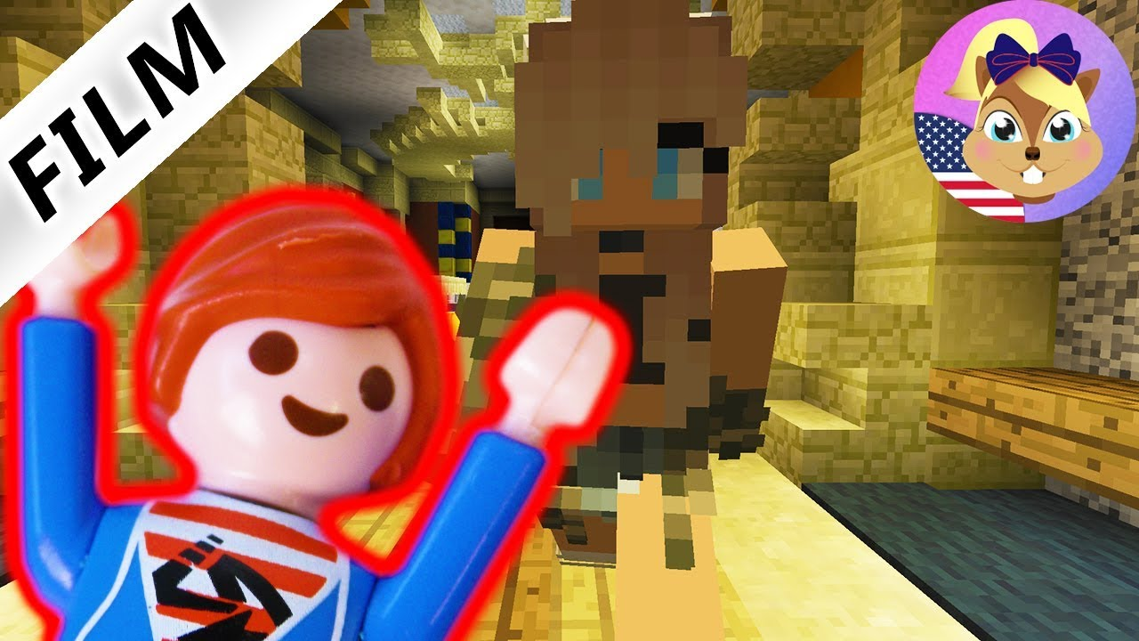JULIAN PLAYS MINECRAFT MURDER MYSTERY Playmobil Film English - Minecraft hauser filme