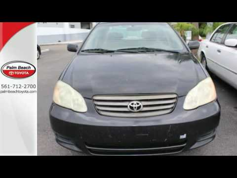 Used 2004 Toyota Corolla West Palm Beach, FL #Z204846