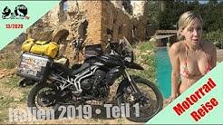 Italien mit dem Motorrad | Oktober 2019 | Teil 1 | Sizilien | Pisa