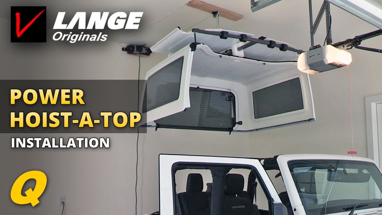 how to lift and store a jeep wrangler hardtop - youtube