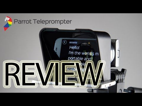 Honest Parrot Teleprompter Review & Tutorial [Film Videos More Professionally]
