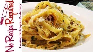 Fettucini (fettuccine) With Basil & Garlic - Noreciperequired.com