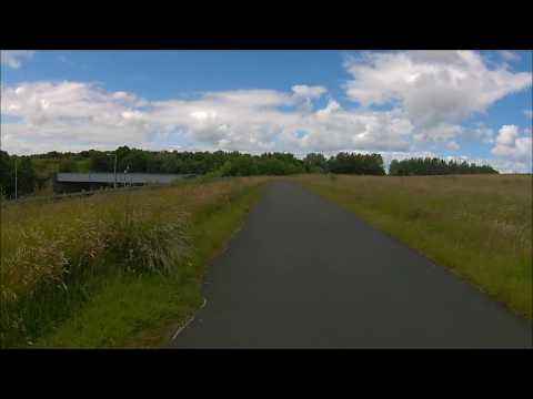 North Tyneside Cycle Route - North Shileds Fish Quay To Wallsend NCN72 POV HD