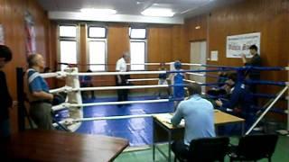 Первый бой по боксу Максима Малинина