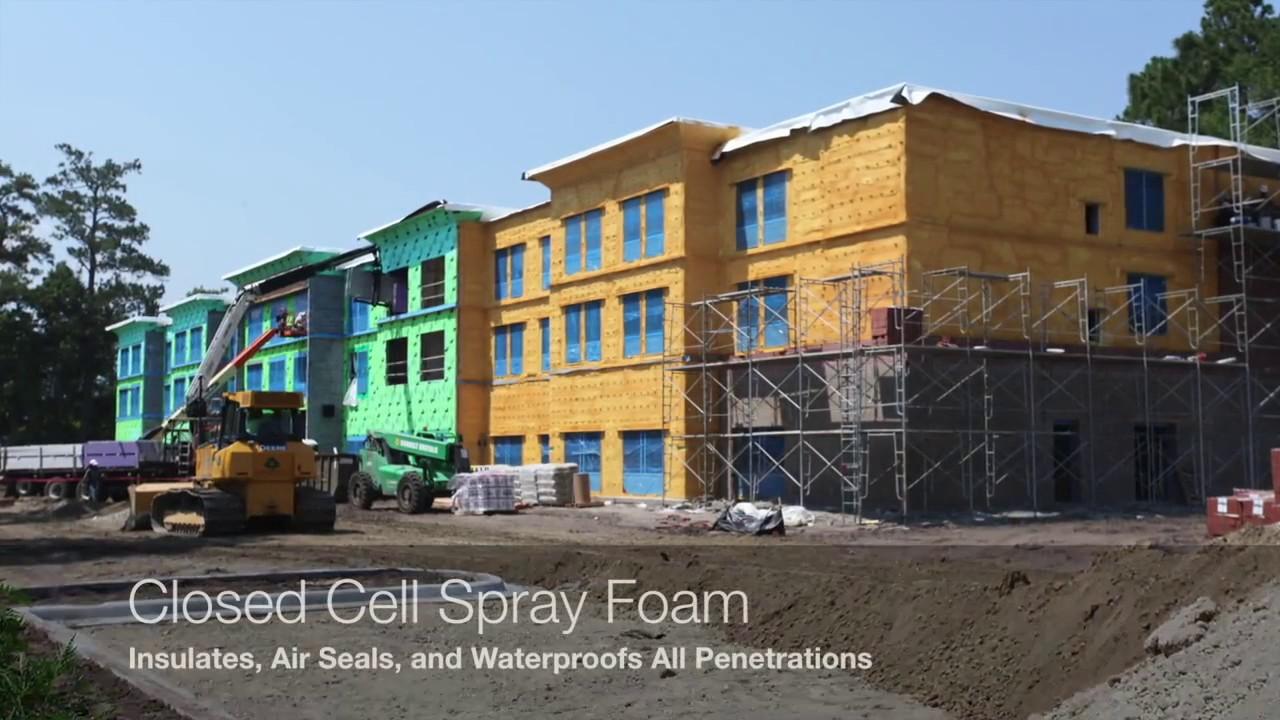 Spray foam insulation for house - Energy One America Closed Cell Exterior Spray Foam Insulation And Air Barrier