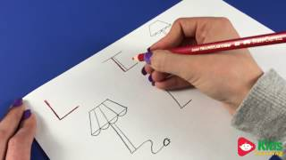 Kids Learning the Letter L by Drawing (Learning the Alphabet)