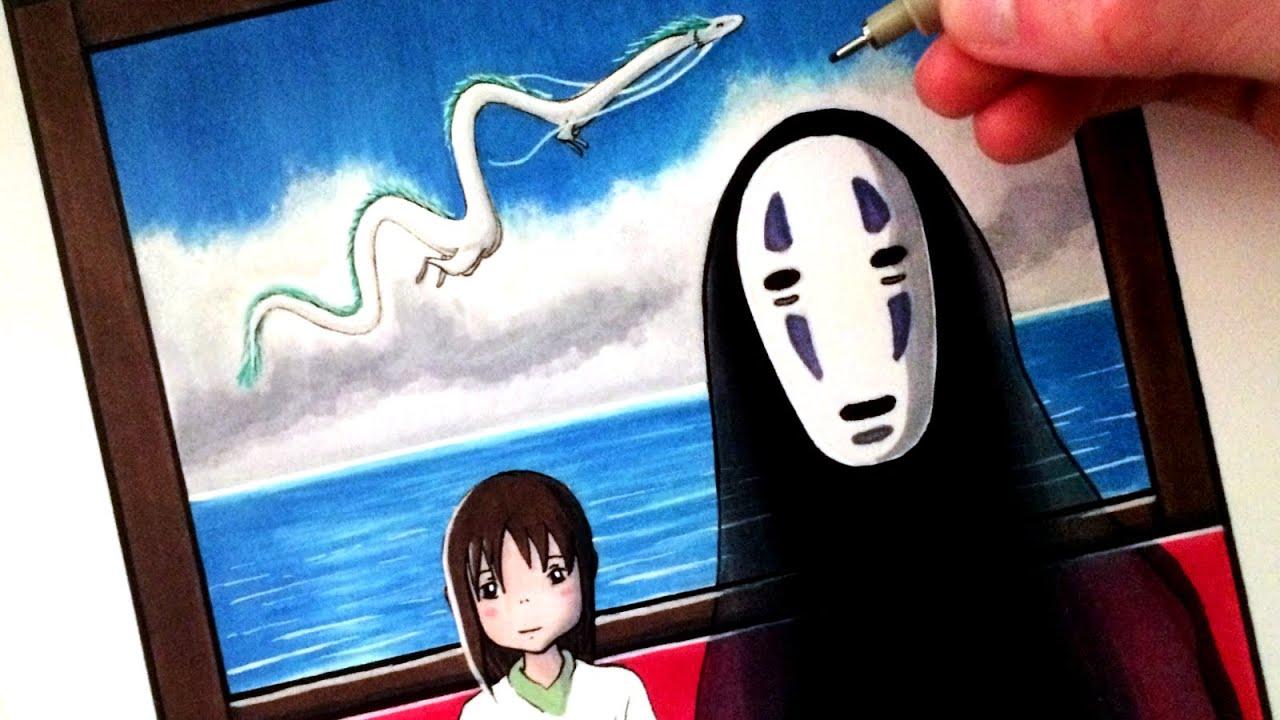 lets draw spirited away chihiro no face amp haku fan