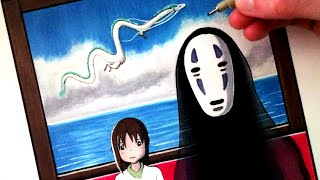 Here's my drawing of Spirited Away! Using Copic Markers. Be sure to...
