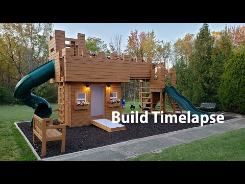 How To Build A Castle Play Structure In 15 Mins Timelapse,  Ultimate DIY Swingset!