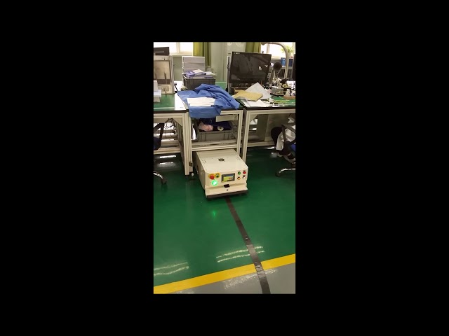Lurking Type AGV Working in an Aerospace Workshop | Automated Guided Vehicle