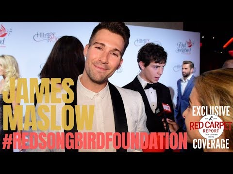 James Maslow interviewed at the #RedSongbirdFoundation  (RSF) Launch founded by #HilaryRoberts