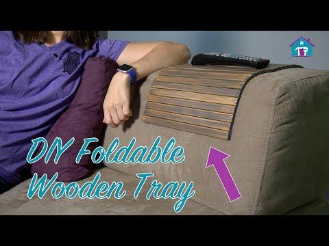 DIY Flexible Wooden Sofa Tray