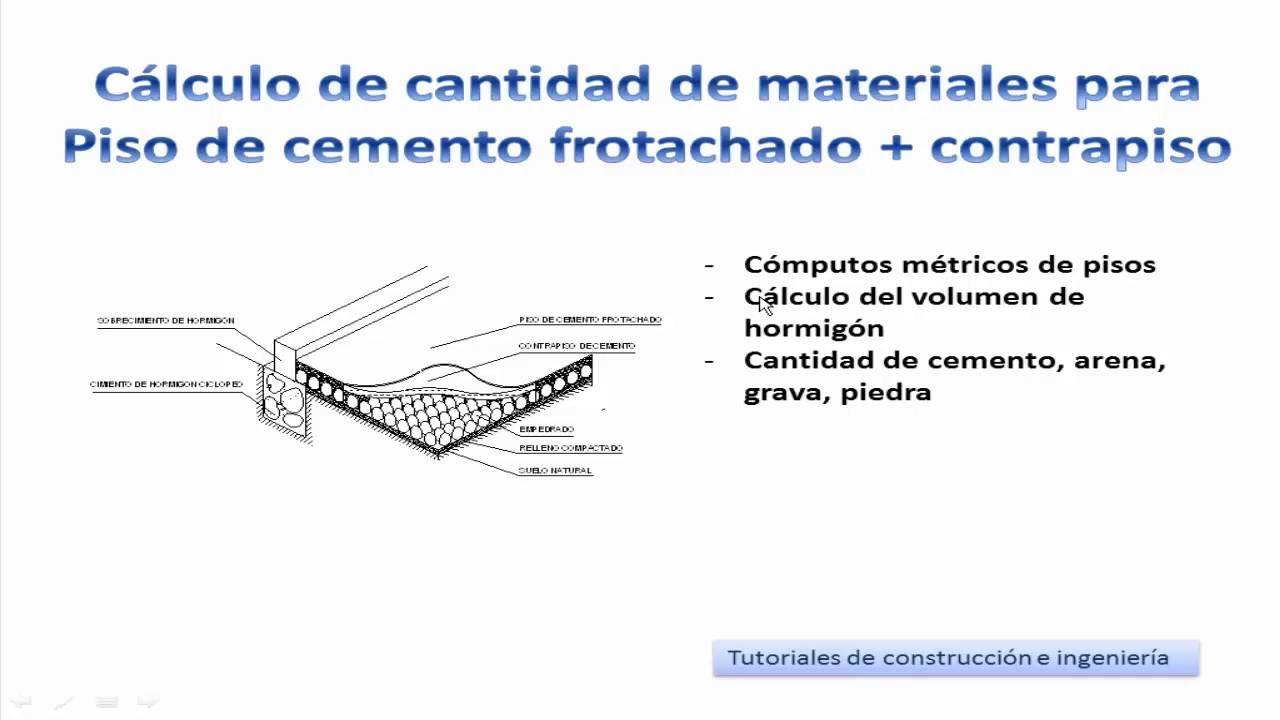 8 c lculo de materiales de construcci n para piso de