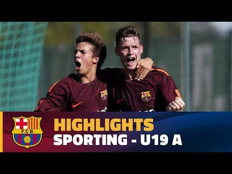 [HIGHLIGHTS] YOUTH LEAGUE: Sporting – FC Barcelona (0-1)