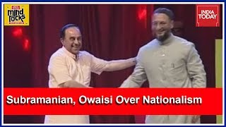 Mind Rocks: Subramanian Swamy, Asaduddin Owaisi Spar Over Nationalism