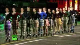 Шотландские танцы на Красной Площади - Спасская Башня 2015(Школа Shady Glen на фестивале