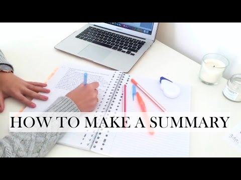 How To Make a Summary - STUDY TIPS