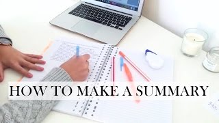 Download How To Make a Summary - STUDY TIPS