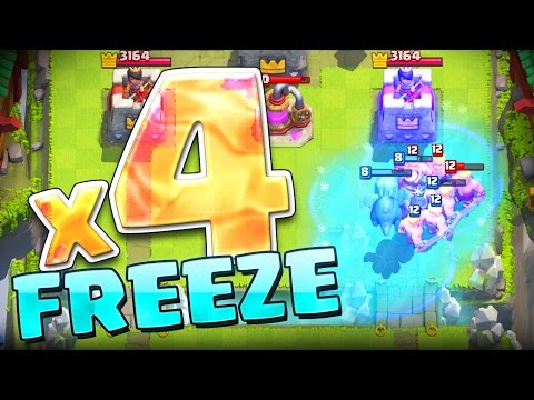 4 Freezes in a Row!! :: Clash Royale :: NEW HIGH LEVEL STRATEGY