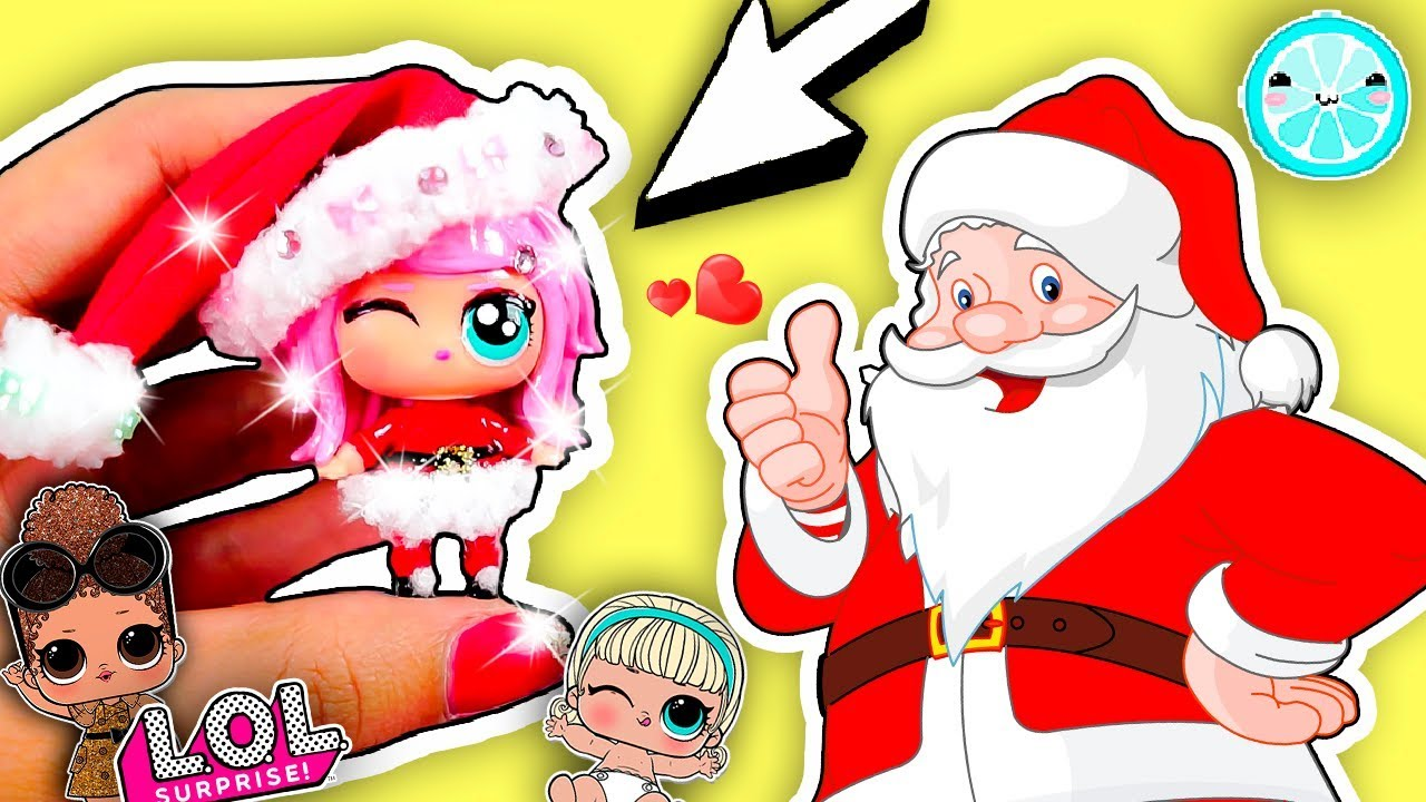 Diy Santa Claus Custom Lol Surprise Dolls Toy Tutorial Series 3 Doll Special Edition