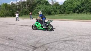 14 year old crashes a cbr F4i multiple times watch till the end