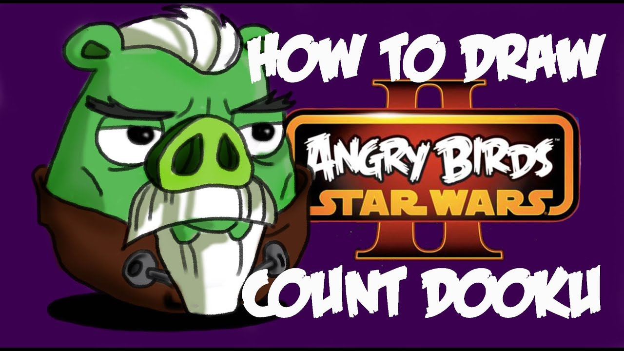 How To Draw Count Dooku (Angry Birds Star Wars 2)!!!